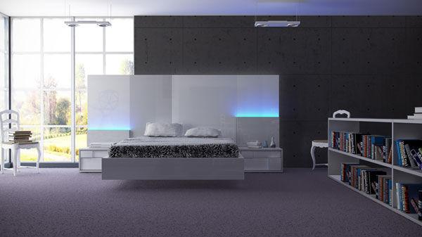 Decoración, dormitorio blanco de Muebles Benicarló