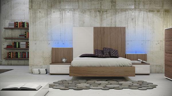 Decoración, dormitorio nogal de Muebles Benicarló