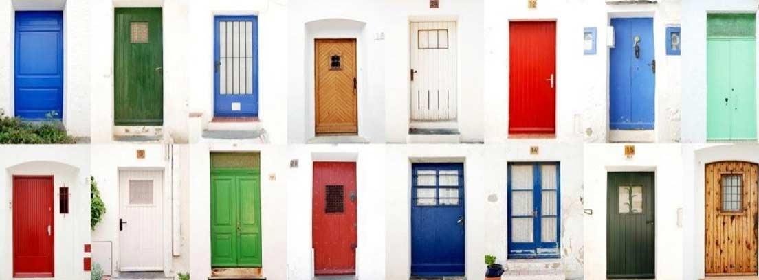 Varios tipos de puerta de entrada