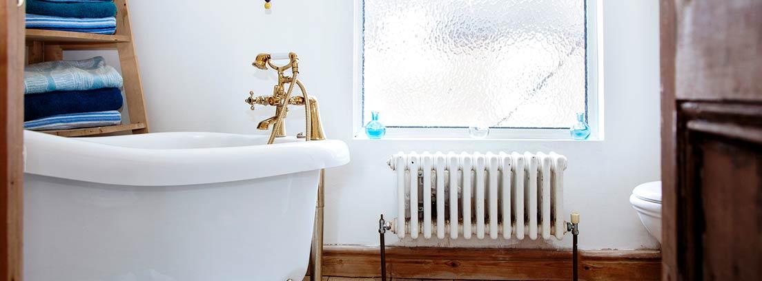 Cuarto de baño con calefacción