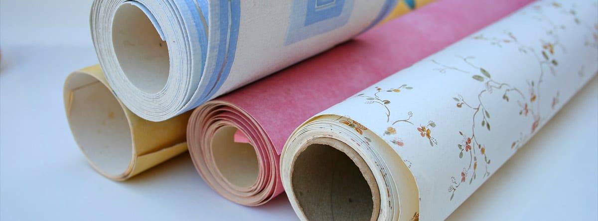 Varios rollos de papel pintado