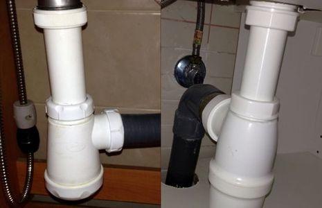 Reparar un desagüe que gotea tuberías