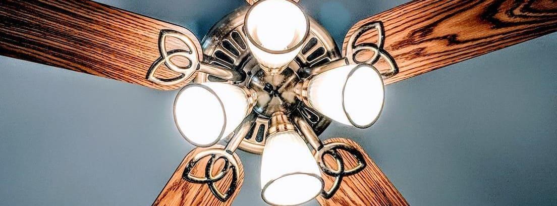 Ventilador de techo con luces