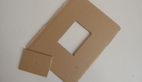 Marcos de fotos con cartón DIY