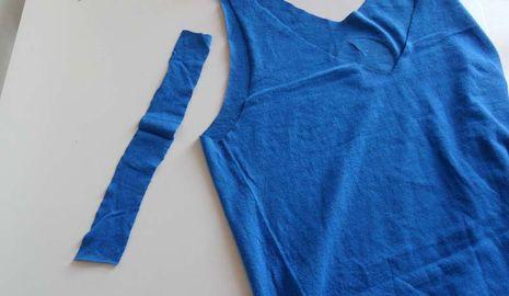 Cortar camisetas para una nueva imagen