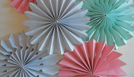 Medallones de papel para decorar fiestas