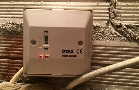 receptor de un termostato inalámbrico