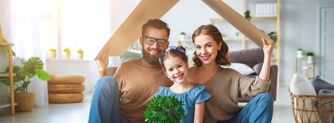familia padre madre e hija