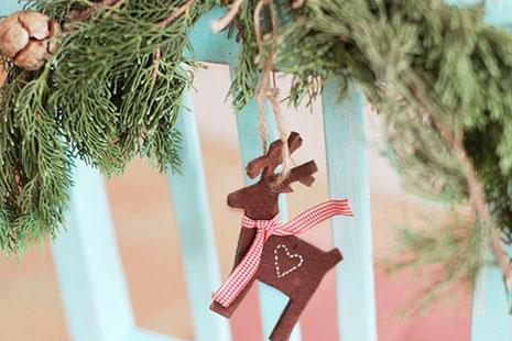 adornos de Navidad más originales con figuras geométricas