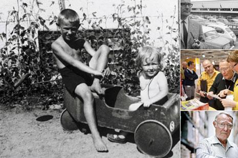 fotografias antiguas y actuales del fundador de ikea Ingvar Kamprad