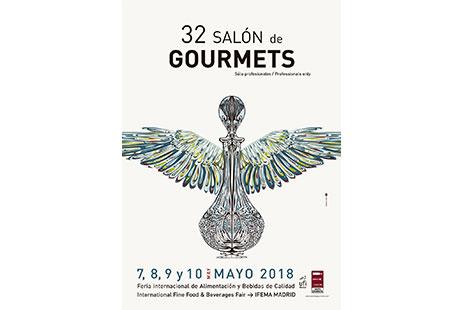 Cartel con el logotipo de la 32 edición del Salón de Gourmets