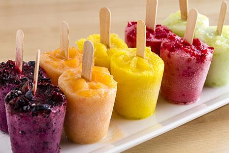 Receta de cocina - Helados con frutas