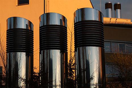 El sistema de ventilación tiene elementos externos que hay que mantener en buen estado