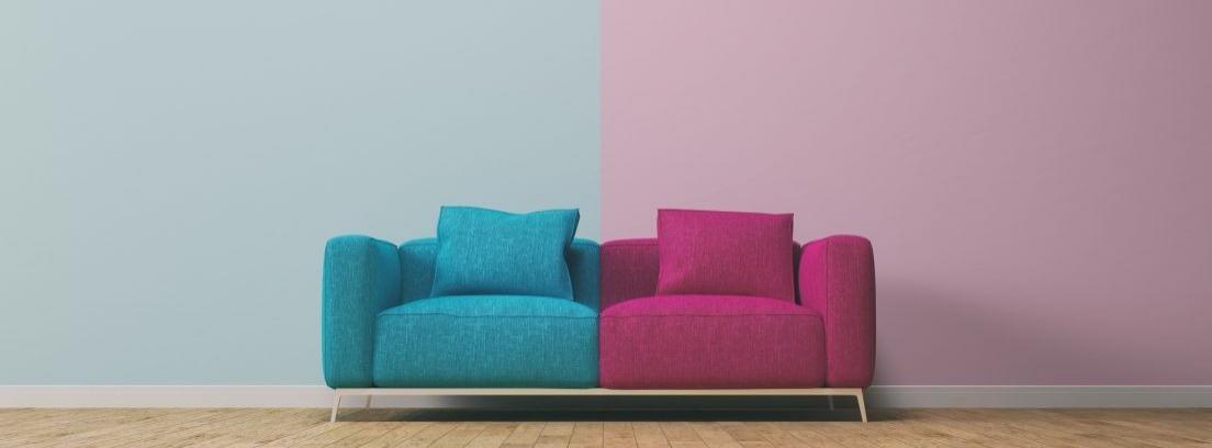 Combina dos colores en las paredes de una habitación