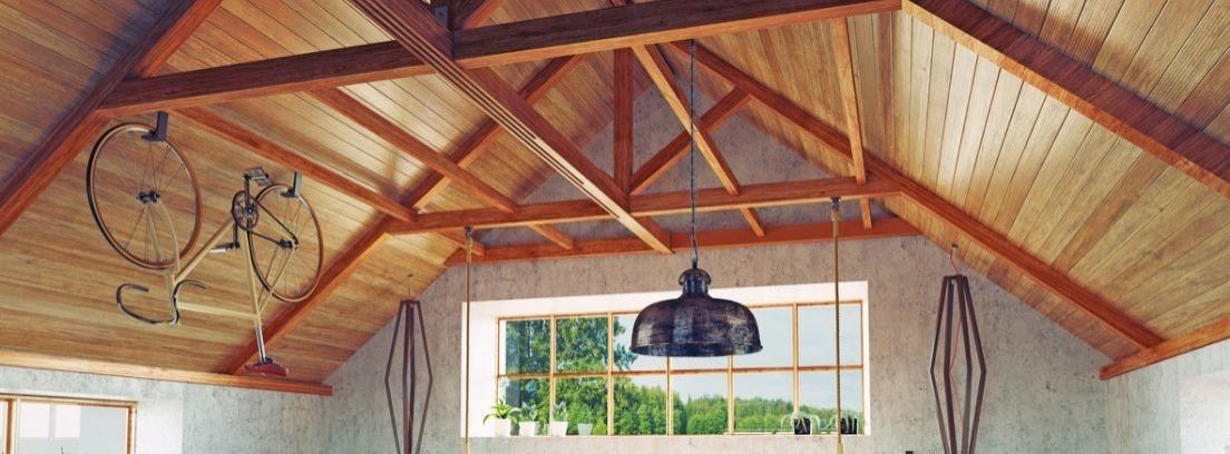 Cuidar un techo de madera