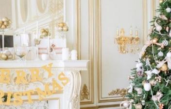 Decoración navideña para el pasillo