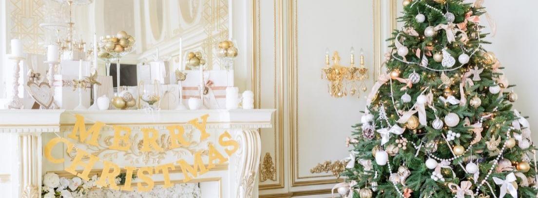 La decoración de los pasillos por Navidad