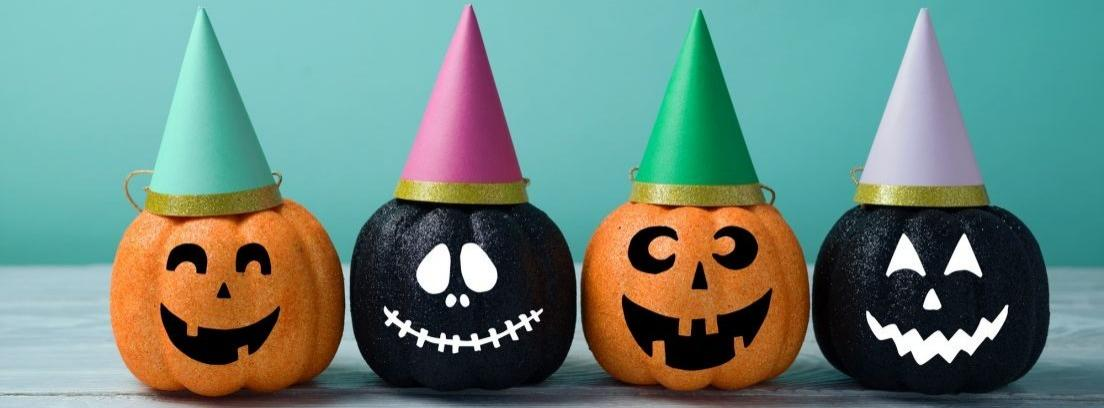 Decora calabazas para Halloween
