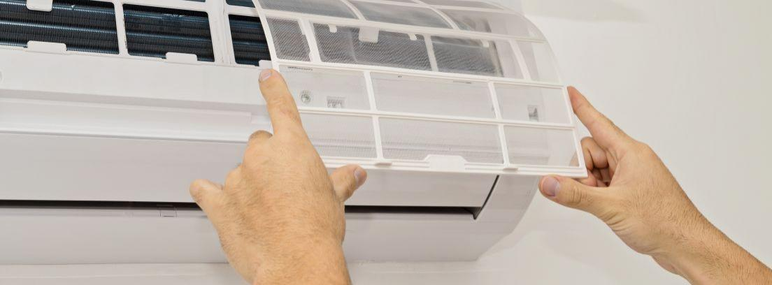Lavar los filtros del aire acondicionado
