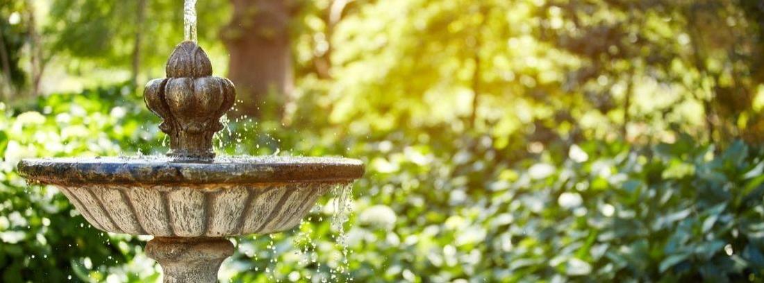 Cuidados de las fuentes de jardín