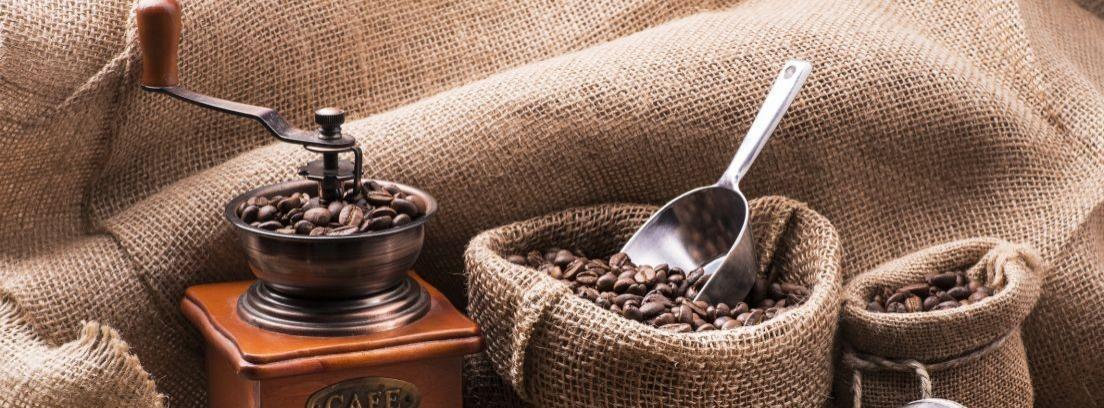 Decorar con sacos de café
