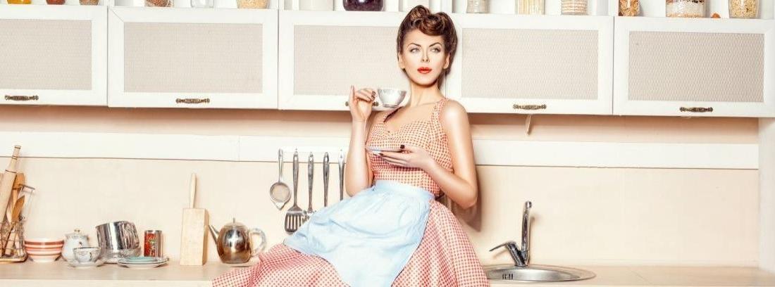 Mujer estilo años 50