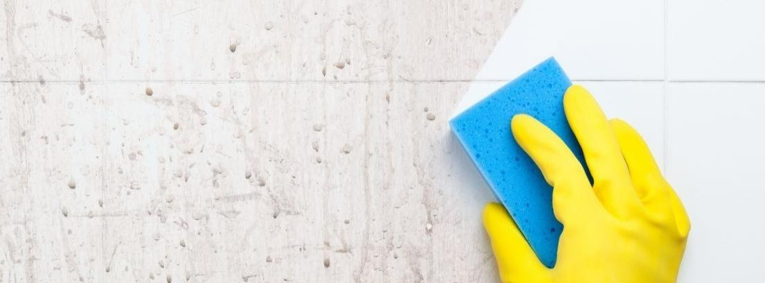 Eliminar manchas de moho en los azulejos