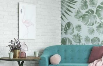 Ideas para combinar papel pintado con pintura
