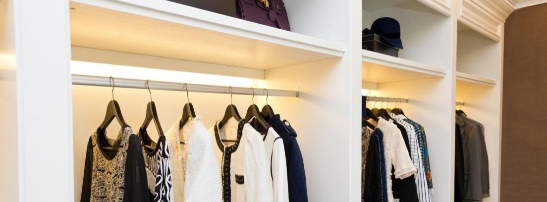 La instalación de luces de led en el armario