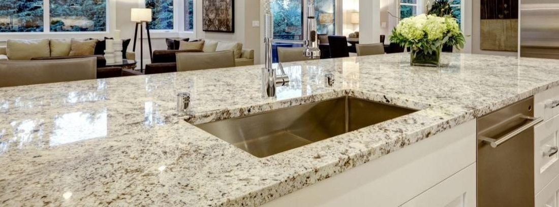 Instalar una encimera de granito canalhogar - Cocinas con encimera de granito ...