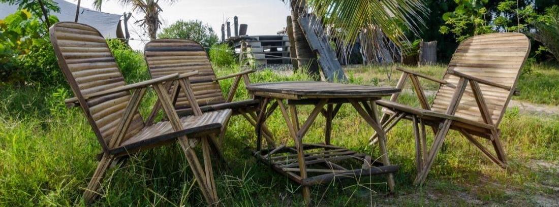 Cuidado de los muebles de bambú