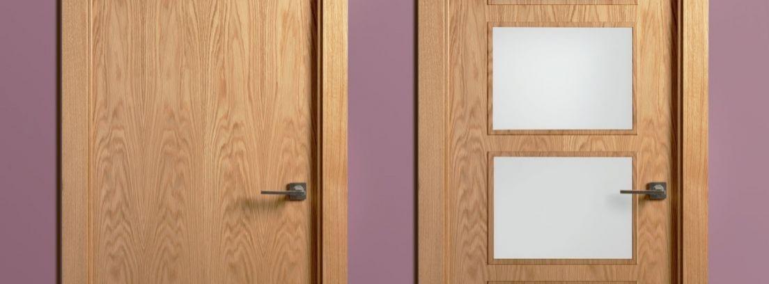 Pintar una puerta con cristal