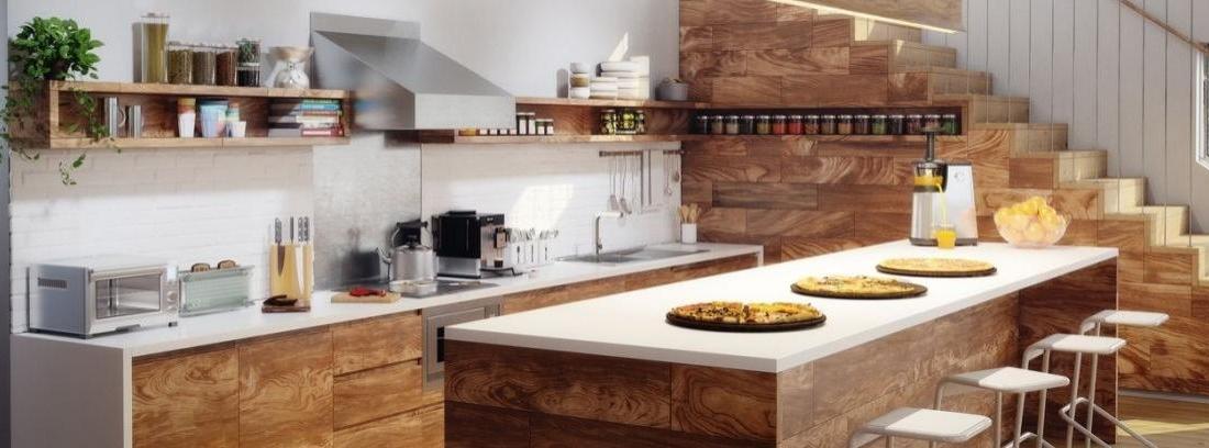 Pros y contras de las encimeras de madera