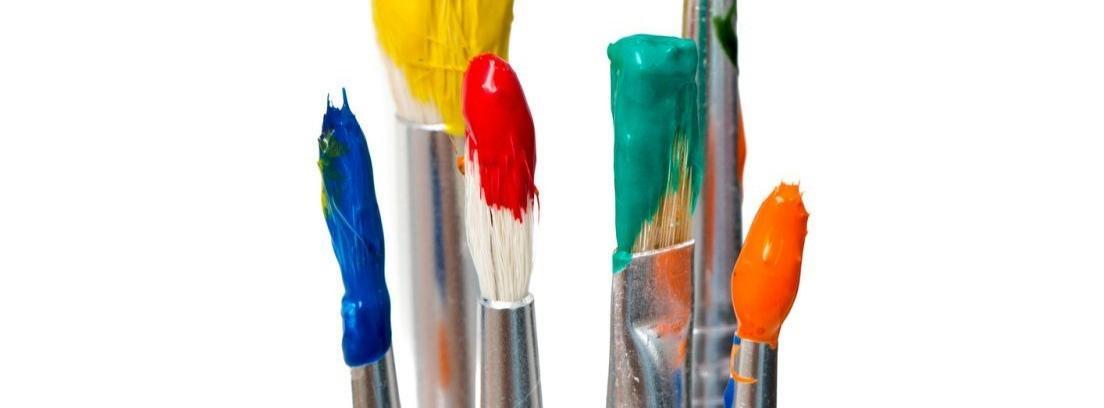 Tipos de brochas, pinceles y rodillos para pintar