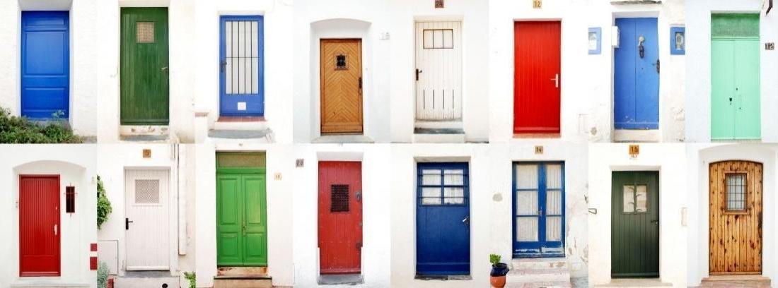 Canalhogar for Tipos de puertas de casa