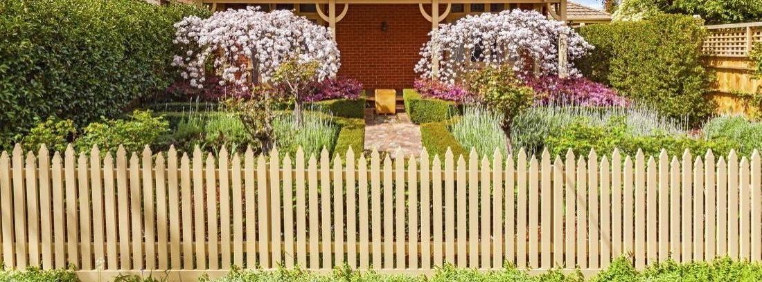 Vallas bonitas para el jardín