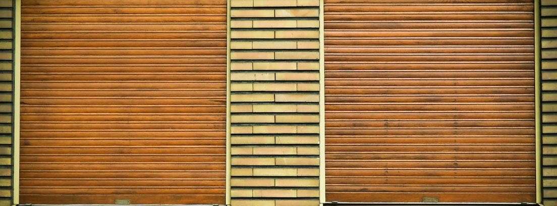 Persianas de madera enrollables