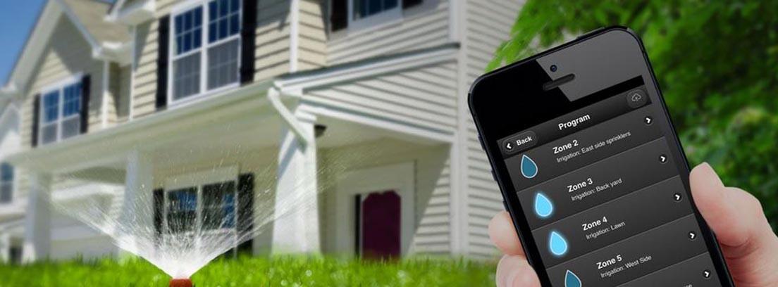 Aplicación móvil GreenIQ para controlar el riego de tu jardín