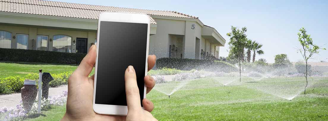 Controla el riego de jardines con tu móvil