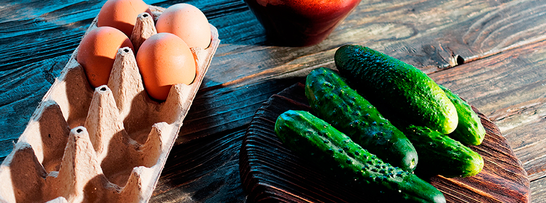 Huevos con pepino
