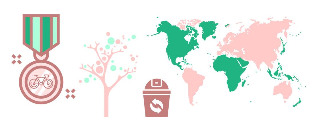 Infografía destinos verdes