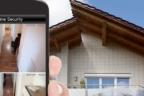 Domótica para el hogar, un móvil muestra las imágenes de seguridad de una casa