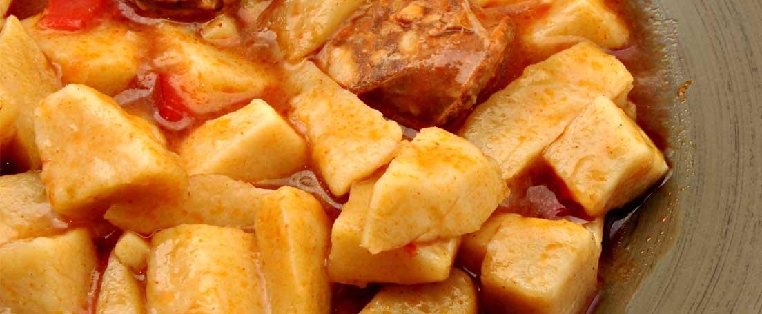 Plato de patatas a la riojana