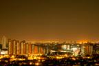 ciudad con contaminación lumínica