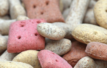 galletas para mascotas de distintas formas y colores