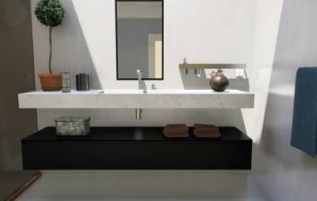 Zona de lavabo en un cuarto de baño moderno