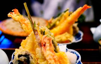 plato de tempura soba