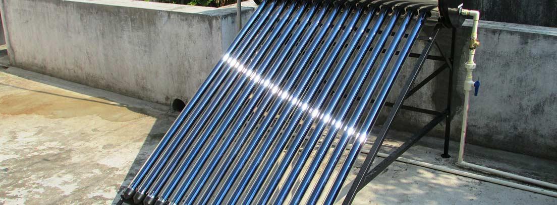 generador solar con depósito para el agua