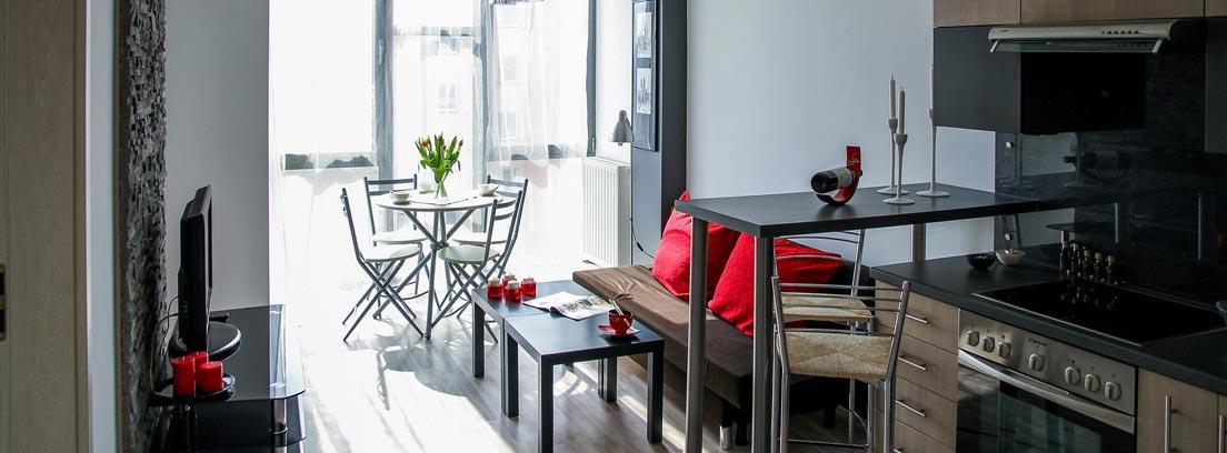Apartamento pequeño en una sola estancia