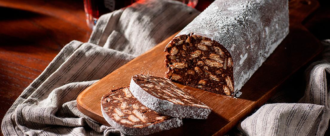 Galletas de chocolate salami